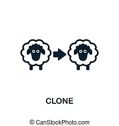 Clone vector icon symbol. Creative sign from biotechnology icons collection. Filled flat Clone icon for computer and mobile