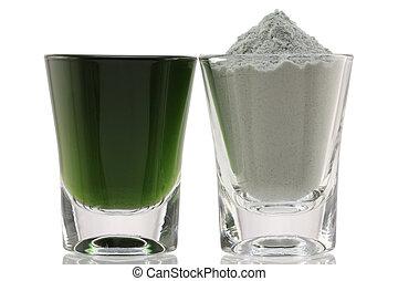 clorofilla, multa, polvere