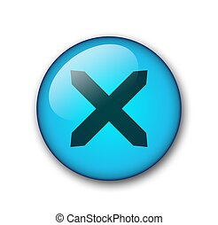 close aqua web button