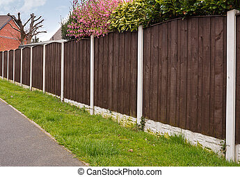 Close board fencing panels - Close board fence erected...