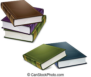 Close color books - Close new books in colour cover with...