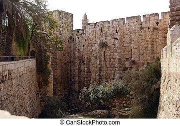 Tower of David the old city walls of Jerusalem Israel