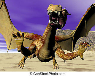 Close Dragon - Attacking dragon