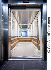 close elevator in the hall