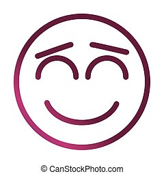 close eyes funny smiley emoticon face expression gradient style icon