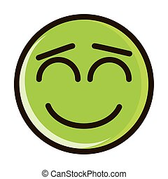 close eyes funny smiley emoticon face expression line and fill icon
