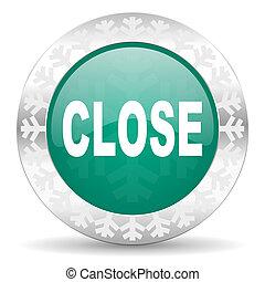 close green icon, christmas button