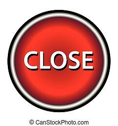 Close icon, red round button