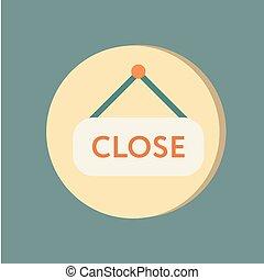 close label sign. symbol icon tablet closed