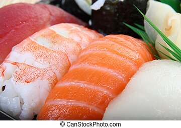 Close of sushi - healthy Japanese food