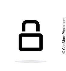 Close padlock icon on white background.