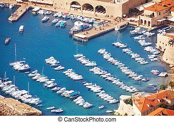Close shoot of Dubrovnik port