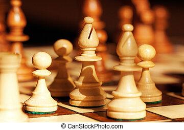 close-up., échecs