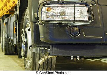 close-up., κομμάτια , φορτηγό