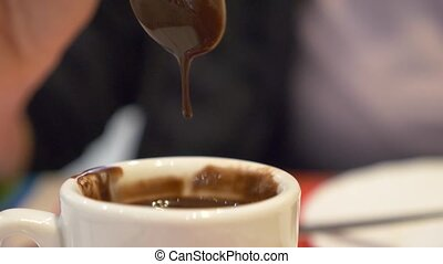 close-up., горячий, шоколад, кружка