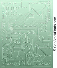 close-up abstract microcircuit - High quality Illustration...