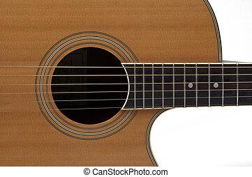 Close Up Acoustic Guitar
