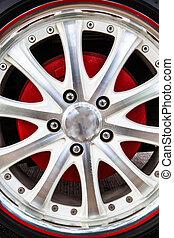 Close up alloy rims