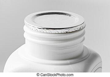 Aluminum Foil Seal - Close up Aluminum Foil Seal isolated on...