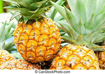 close-up, ananas