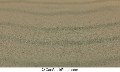 Close-up, approaching sand dunes. Background and texture of...