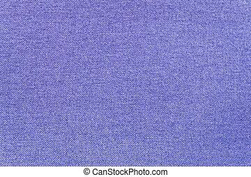 Close Up Background of Blue Canvas Textile Texture