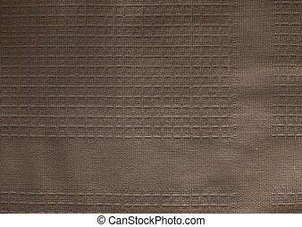 Close Up Background of Brown Textile Texture
