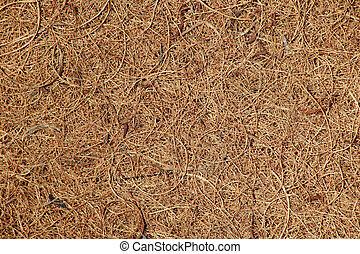 coconut coir matting - Close-up background of woven coconut ...