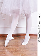 Close-up ballet girls legs