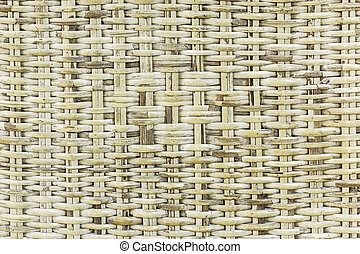 Close up bamboo basketry background