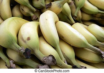 Close up bananas