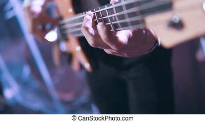Close Up Bass Guitarist