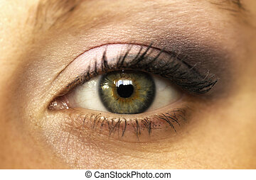 Close up beautiful woman eye make up