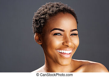 african american fashion model smiling