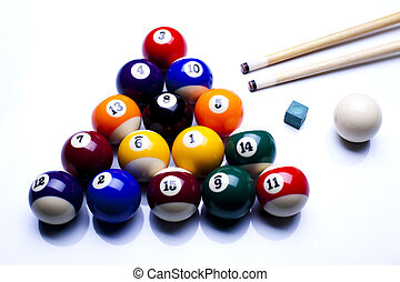 Close-up billiard balls - Billiard game
