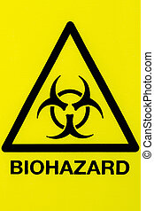Close up biohazard sign