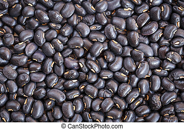 Close up black beans for background