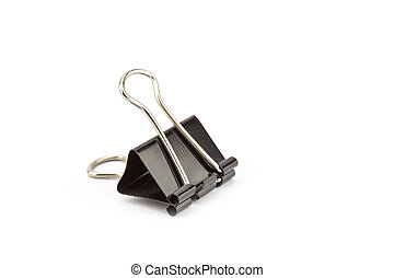 Black Paper clip isolated on white background
