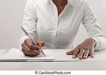 black woman writes