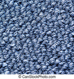 Close up blue colors carpet texture