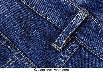 Close Up blue jeans.