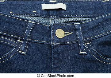 Close up blue jeans