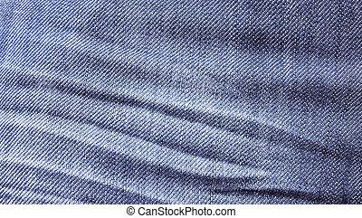 Close up blue jeans texture