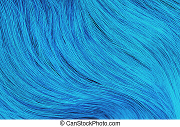 Close up blue unusual hair. Textures, background concept.