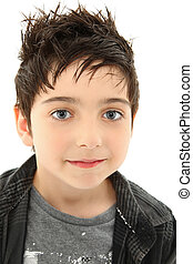 Close Up Boy with Hazel Eyes