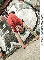 close-up, breakdance, verticaal