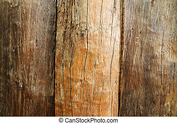 Close up brown wooden fence