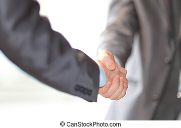 close up. business handshake in the office