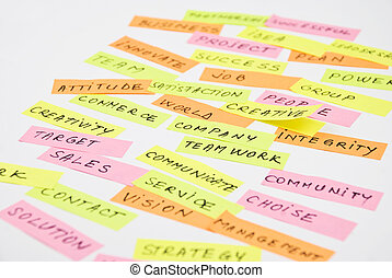 Close up business words collage - Close up of business words...