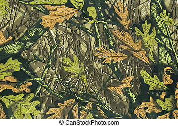 Close up camouflage fabric in a horizontal orientation